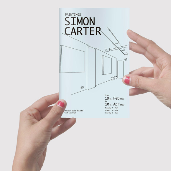 Simon Carter Paintings catalogue - 24 pages 12x19cm, on occasion of the solo exhibition at SEA Foundation Tilburg, the Netherlands