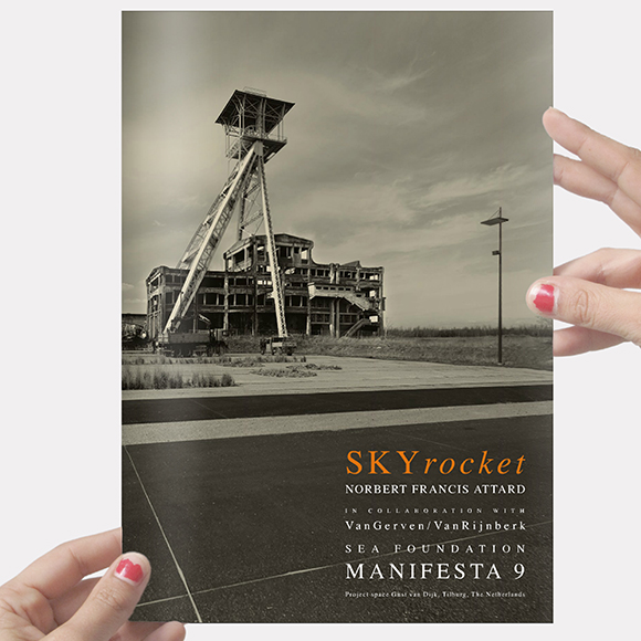 VanGerven|VanRijnberk & Norbert Attard, Skyrocket. Artists' book. Catalogue of group show Manifesta. 21x30cm.