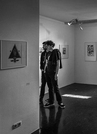 Arik Roper at SEA Foundation. Installation view of exhibition, Brilliant Shadows, at SEA Foundation.