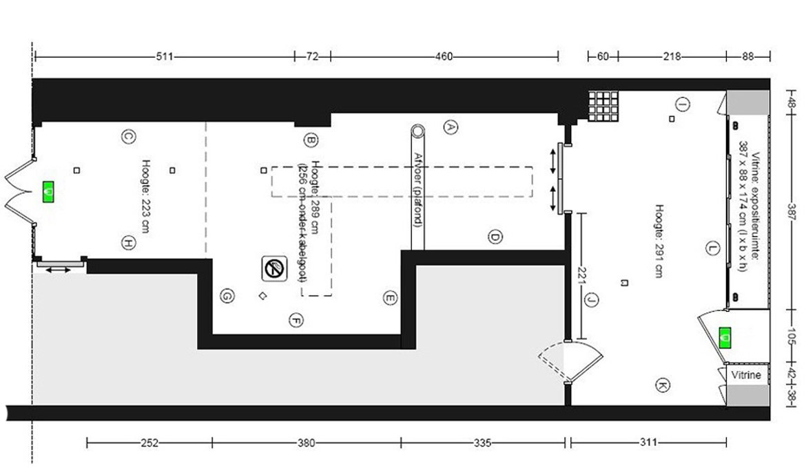 Project Space Floorplan at SEA Foundation Tilburg, the Netherlands