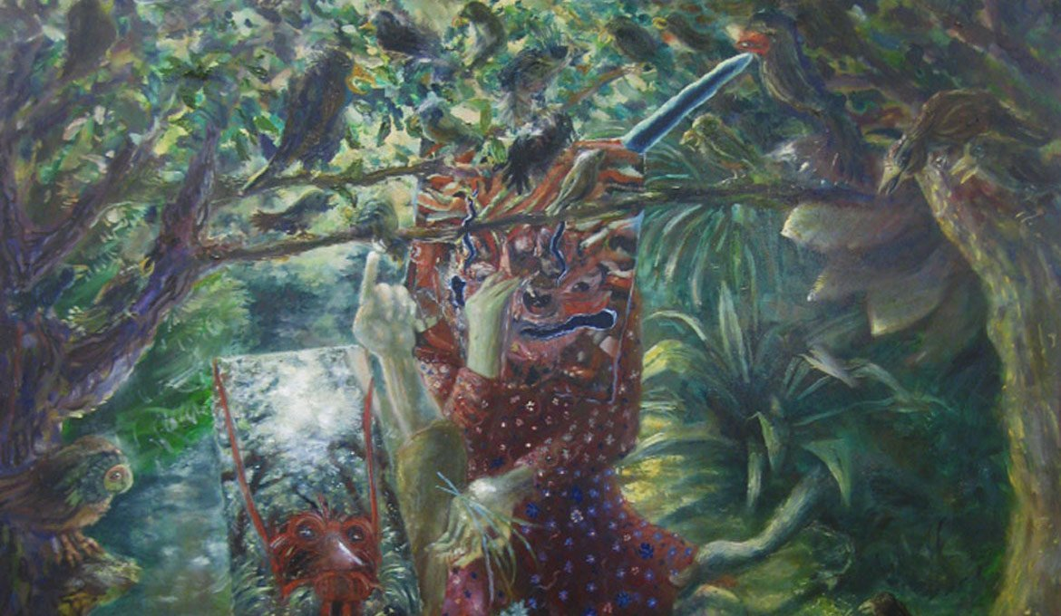 Detail Come perle ai porci, oil on canvas, 2013, Thomas Braida