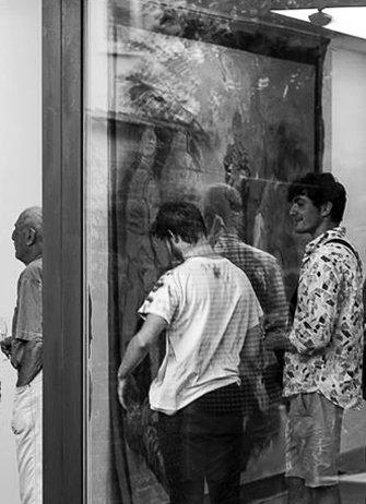 Stijn Peeters, Europeasche Werte. Exhibition at Das Esszimmer, Bonn, 2016. Exhibition view. Collaboration project between Das Esszimmer and SEA Foundation
