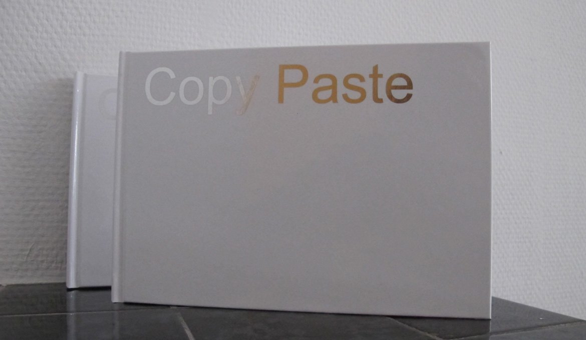 Copy Paste, First artist's book Hester van Tongerlo 2016, SEA Foundation 2016