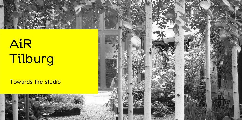 AiR-Tilburg, passage through the garden towards the studio, SEA Foundation, Tilburg The Netherlands