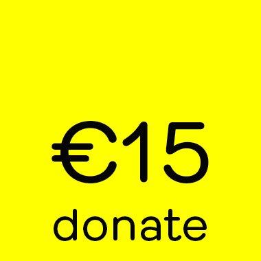 Donate button 15 euro