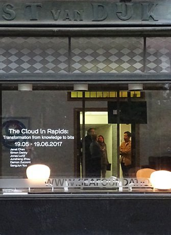 The Cloud in Rapids store front, Exhibition at Project Space Tilburg, SEA Foundation 2017
