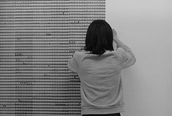 Portrait of Junsheng Zhou, Wallpapering Wallpapered Wallpaper, The Cloud in Rapids, Artist in Residence, SEA Foundation 2017