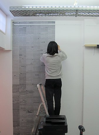 Portrait of Junsheng Zhou, Wallpapering Wallpapered Wallpaper, Artist in Residence, SEA Foundation 2017