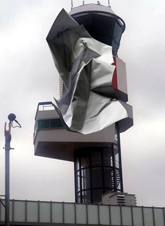 Jon Tarry, Rotterdam Control tower paper throw 2019 Catching the Moment