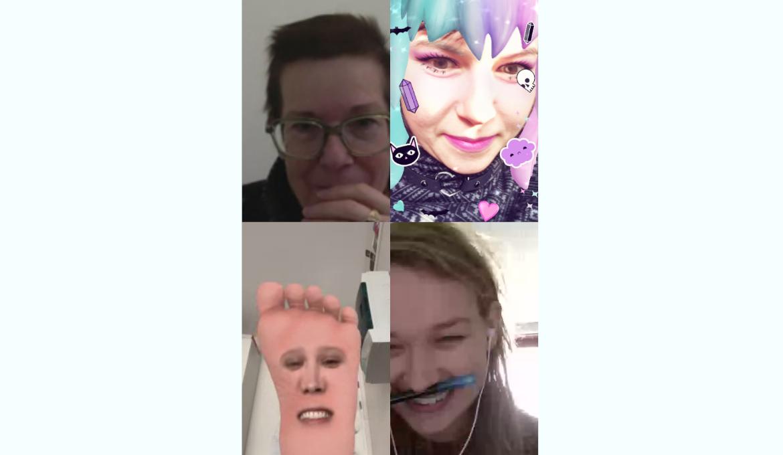 skype meeting Riet, Michaela, Nadine and Lotte 2020